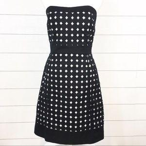 WHBM Eyelet Dot Dress
